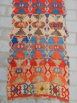 Antique Anatolian Kilim  size.245x75cm