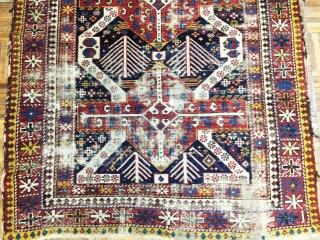 Antique Caucasian Sirvan Rug
