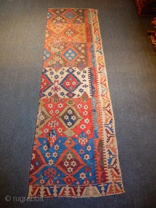 Old Anatolian Kilim  size.260x80cm