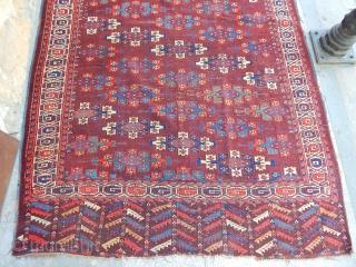 Antique Turkmen Yamut Main Carpet