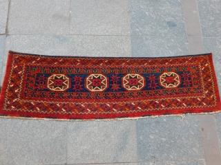 Old Turkmen Ersari Trapping Rug