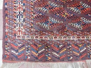 Old Turkmen Yamut Ensi Rug  size.170x145cm