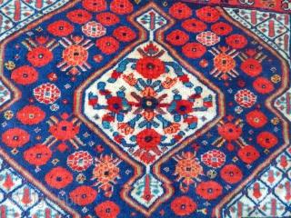 Old Qashqaii Qamse Bagface Rug