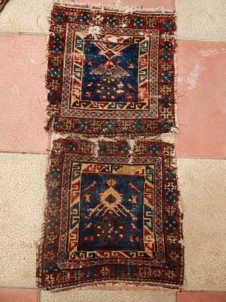 Old Kuba Sirvan Bagface Rug  size.45x40cm 45x40cm