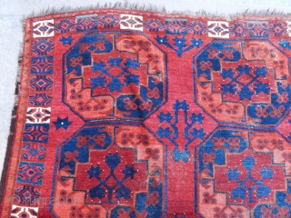 Antique Turkmen Ersari Main Rug