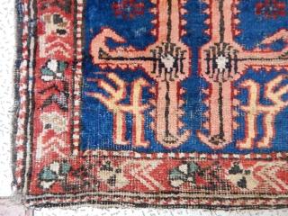 Old Kuba Sirvan Bagface Rug  size.50x45cm