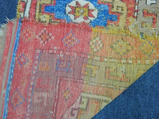 Antique West Anatolian Cal Fragment Rug Mid 18th Century