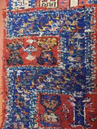 Antique Caucasian Zili S Sumak fragment  Size:225x80cm