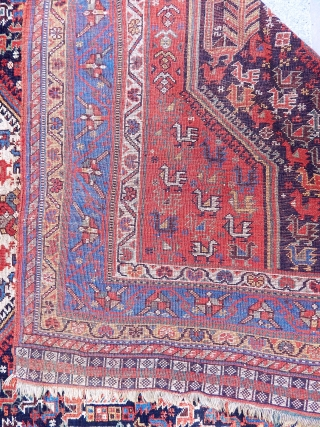 Antique Khamse Bırd Rug