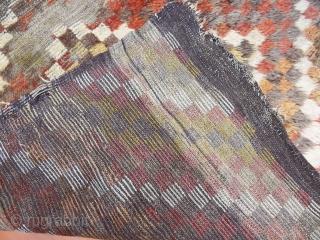 Antique Anatolian Konya Bozkır Tulu Rug  size.230x143cm