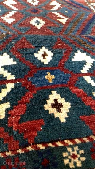 Antique Caucasian Kuba Sırvan small Rug