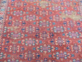 Antique Turkmen Yamut Main Rug