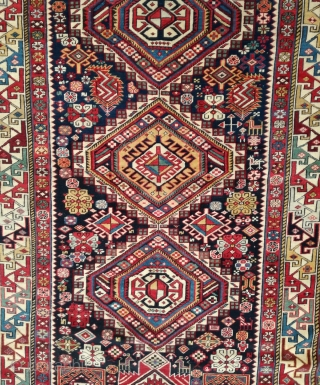 Antique Caucasian Sehnazar Sirvan Rug