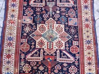 Antique Caucasian Akstafa Sirvan Rug   size.300x122cm