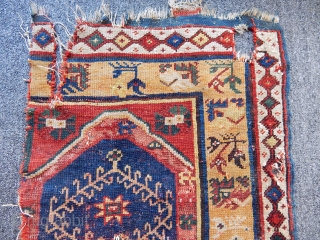 Antique West Anatolian Megri Rug Fragment