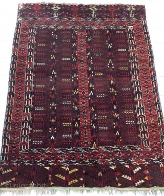 Antique Turkmen Tree Life Ensi Rug