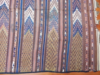 Antique Turkmen Ersari Kilim  Size.270x140 cm