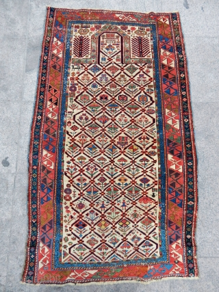Antique Marasalı Sirvan Prayer Rug  size.152x88cm