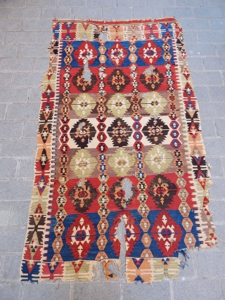 Antique Anatolian Aksaray Kilim 
