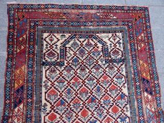 Antique Marasali Sirvan Prayer Rug  Size.128x100 cm