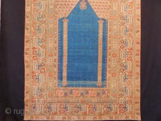 Antique West Anatolian Gordes Prayer Rug