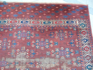 Antique Turkmen Yamut Main Rug