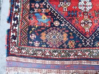 Antique Qashqaii Trabil Rug