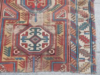 Antique Caucasian Kuba Sirvan Fragment size.80x100cm