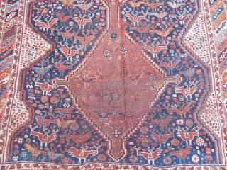 Antique Qashqaii Rug  size.187x140cm