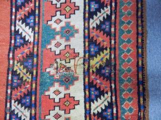 Antique Caucasian Lenkoran Talish Rug