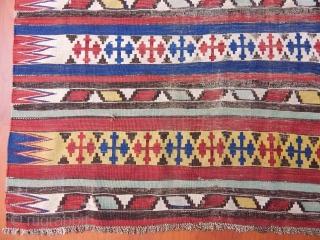 Antique Caucasian Şirvan Kilim