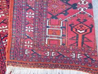 Antique Turkmen Saryk Bagface