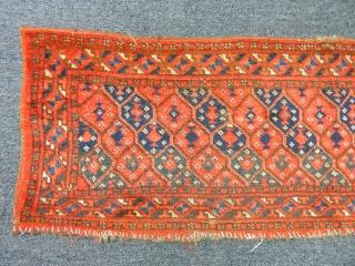 Antique Turkmen Ersari Rug Trapping