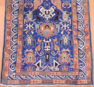 Antique Caucasian Zeyhur Rug  size.165x107 cm