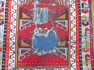 Antique Anatolian Konya Ladik Rug