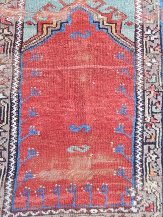 Antique Anatolian Aksaray Village Prayer Rug  size.165x117cm