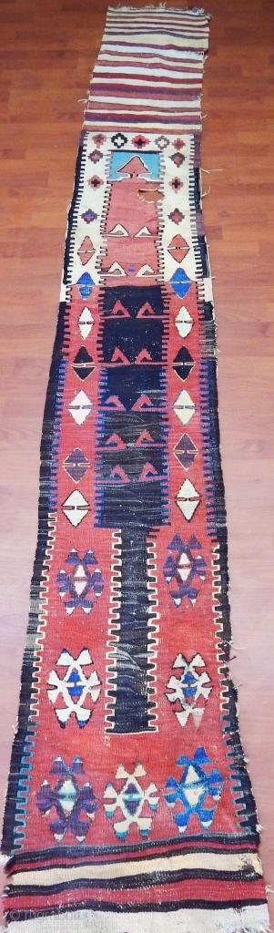Antique Anatolian Konya Ladik Kilim  Size.300x45cm