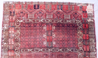 Antique Turkmen Arabacı Ensi Rug 