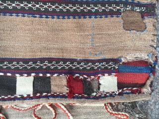 Antique Baluch Saddlebag Kilim Size:140x58cm