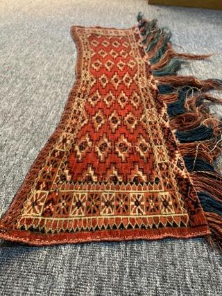 Tekkeh Asmalik approximately 170 years old  rug size is 94 x 21 cm