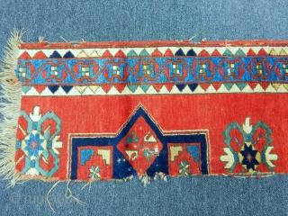Old Fahrola Kazak Fragment  size.185x50cm