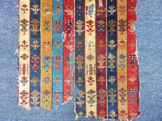 Antique Talısh Rug Fragment  size.95x55cm