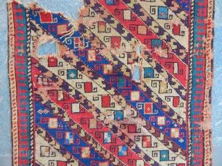 Caucasian Akstafa Prayer Fragment Rug size.130x70cm