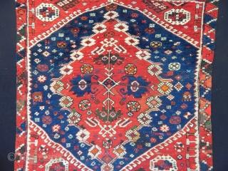 Antique Bergama Rug size.113x108 cm