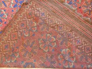 Antique Ersari Fragment Rug size.175x172cm