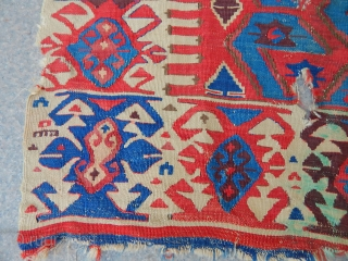 Old East Anatolian Kilim Part size.290x82cm