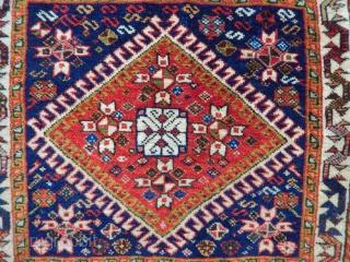 Old Qashqaii Bagface Rug size.50x58cm