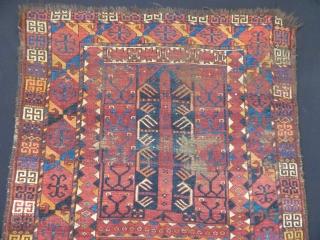 Antiqeu Turkmen Ersari Ensi Rug  size.180x125cm