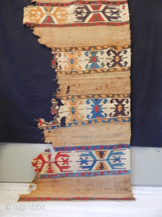 Antique Karapınar Kilim Fragment  size.255x93cm