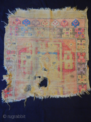 Antique Cappadocia Carpet Fragment  size.100x100cm